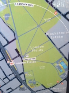 photo  London Fields map