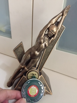 Exhibit A - sample swimming trophy & medal